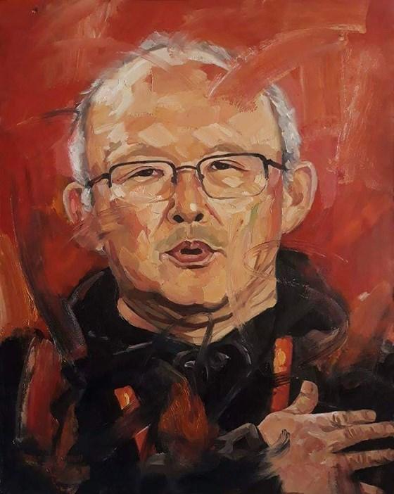 Arts : un portrait a l'huile de l'entraineur Park Hang-seo sera mis aux encheres hinh anh 1
