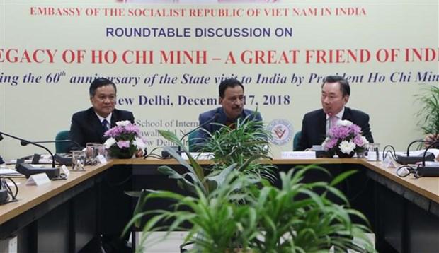 Table ronde sur le president Ho Chi Minh en Inde hinh anh 1