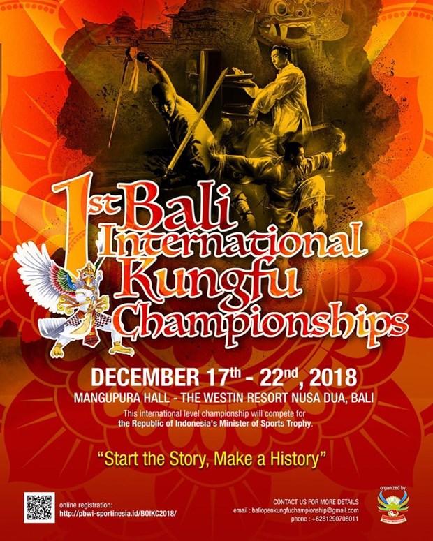 Ouverture de la premiere edition des Championnats internationaux de Kung-fu de Bali hinh anh 1
