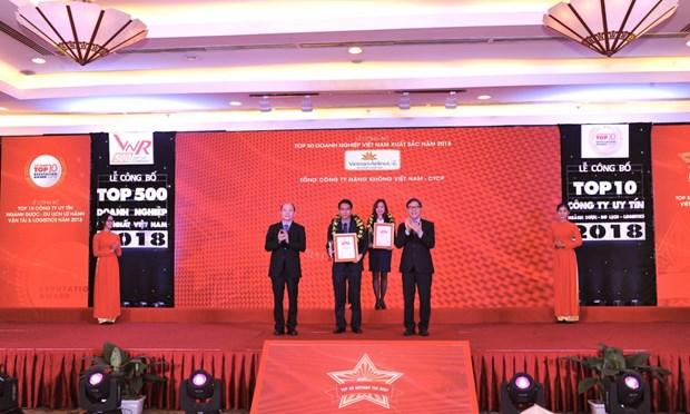 Vietnam Airlines se classe dans le top dix des meilleurs entreprises du Vietnam hinh anh 1