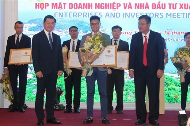 Ba Ria-Vung Tau: remise des licences d'investissement a 9 projets hinh anh 1