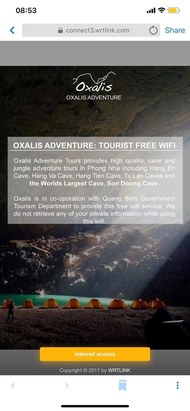 Quang Binh : le wifi gratuit pour tous au parc national de Phong Nha - Ke Bang hinh anh 1