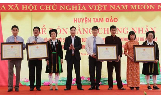 Vinh Phuc : le chant « Soong Co » inscrit au patrimoine culturel immateriel national hinh anh 1