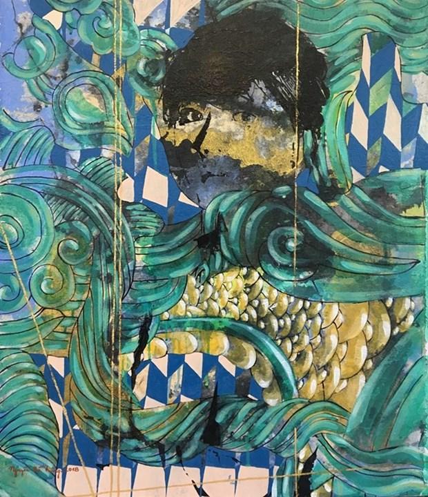 Un peintre vietnamien expose l'art abstrait a New York (Etats-Unis) hinh anh 1