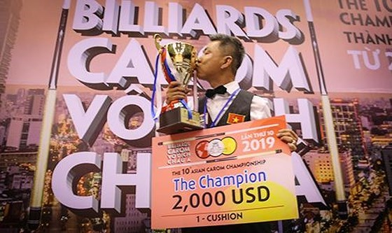 Ma Minh Cam, champion d'Asie de billard carambole a une bande 2019 hinh anh 1