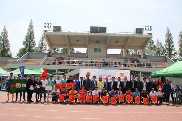 Ouverture du 2e festival sportif de la communaute des Vietnamiens en R. de Coree hinh anh 1