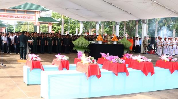 Gia Lai : inhumation des restes de soldats vietnamiens tombes au Cambodge hinh anh 1