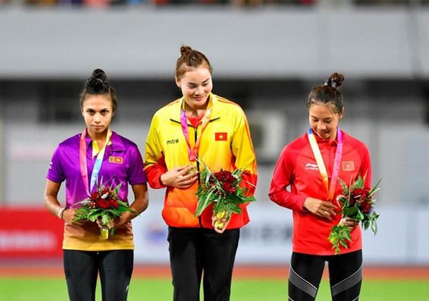 Athletisme : Quach Thi Lan remporte une medaille d'or lors de la competition Grand Prix d'Asie 2019 hinh anh 1