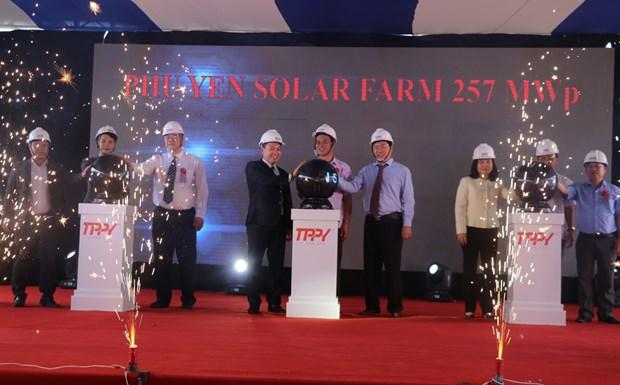 Phu Yen : Inauguration de la centrale solaire de Hoa Hoi hinh anh 1