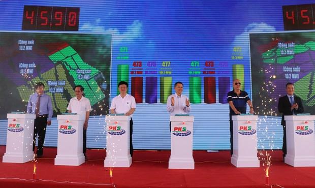 Inauguration de deux centrales solaires a Phu Yen hinh anh 1