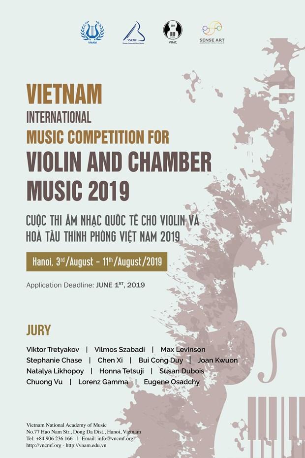 Bientot concours international de violon et musique de chambre au Vietnam hinh anh 1