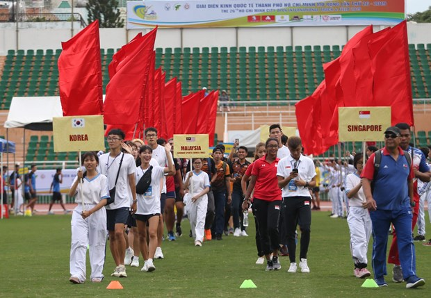 Ouverture d'un tournoi international d'athletisme a Ho Chi Minh-Ville hinh anh 1