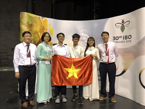 Quatre Vietnamiens medailles aux Olympiades internationales de Biologie 2019 hinh anh 1