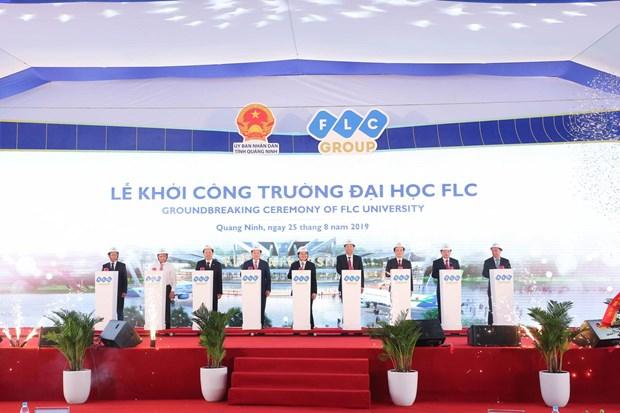 L'Universite FLC a Quang Ninh mise en chantier hinh anh 1