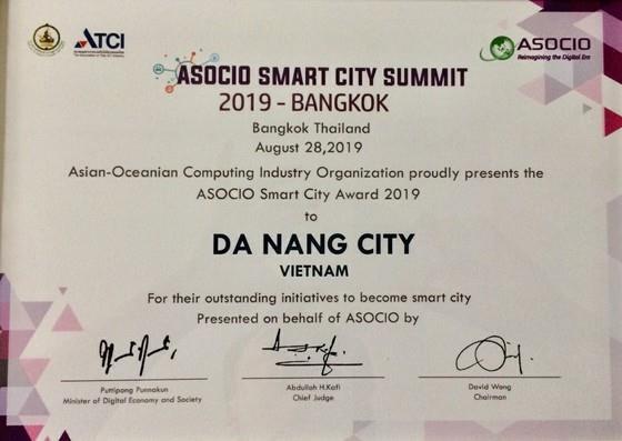 Da Nang recoit le prix ASOCIO Smart City 2019 hinh anh 2