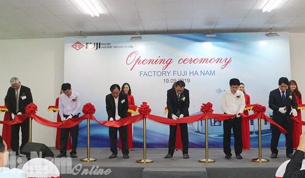 Ha Nam: Inauguration de l'usine Fuji Electric Industry Vietnam hinh anh 1