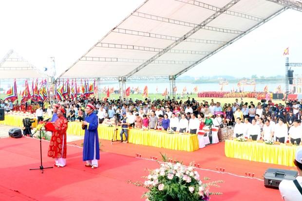 Environ 120.000 pelerins a la fete d'automne de Con Son - Kiep Bac 2019 hinh anh 1