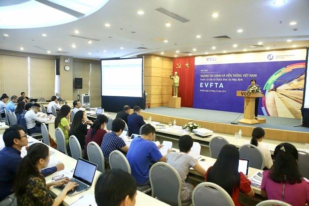 Le secteur financier et des telecommunications face aux opportunites et aux defis de l'EVFTA hinh anh 1