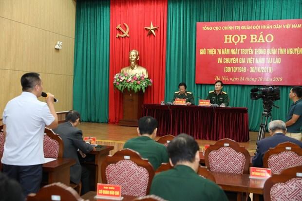 Pour marquer la 70e Journee des soldats volontaires et experts vietnamiens au Laos hinh anh 1
