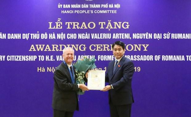 L'ancien ambassadeur de Roumanie au Vietnam a l'honneur hinh anh 1