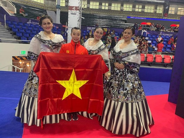SEA Games 30: une medaille d'or pour l'aerobic vietnamien hinh anh 1