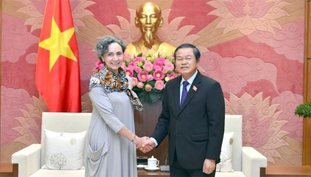 Le vice-president de l'Assemblee nationale Do Ba Ty recoit l'ambassadrice du Mexique au Vietnam hinh anh 1