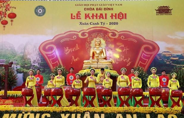 Ouverture de la fete de la pagode Bai Dinh 2020 hinh anh 1