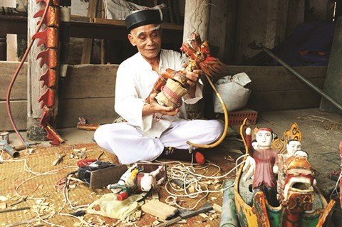 Rach, l'un des plus anciens villages de marionnettes sur l'eau du Nord hinh anh 2