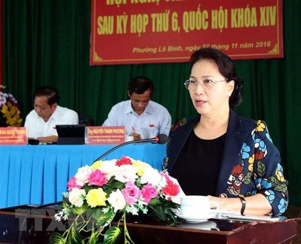 La presidente de l'AN a l'ecoute des electeurs de Can Tho hinh anh 1