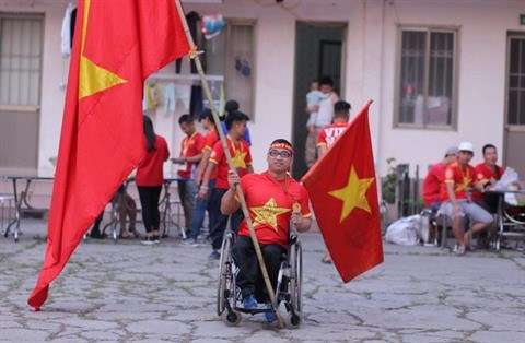 Un supporteur de l'equipe nationale du Vietnam pas comme les autres hinh anh 1