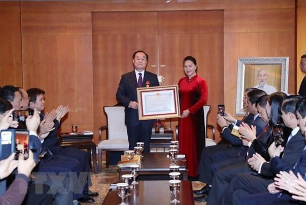 Le professeur sud-coreen Ahn Kyong Hwan a l'honneur hinh anh 1