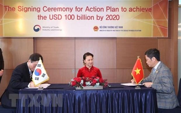 Le Vietnam et la R. de Coree ciblent 100 milliards d'USD d'echanges commerciaux en 2020 hinh anh 1