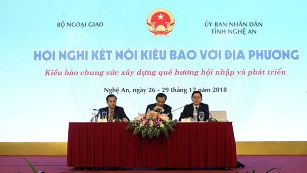 Conference des Viet kieu avec leur pays natal a Nghe An hinh anh 1