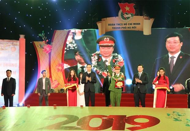 Hanoi : Mise a l'honneur des 10 figures exemplaires de la jeunesse 2018 hinh anh 1