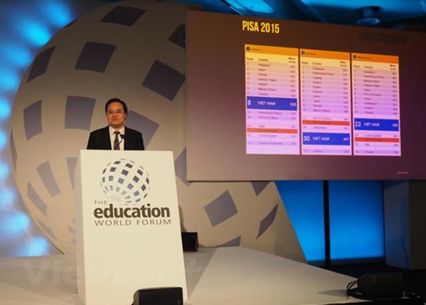 Le Vietnam participe au forum de l'education mondial a Londres hinh anh 1
