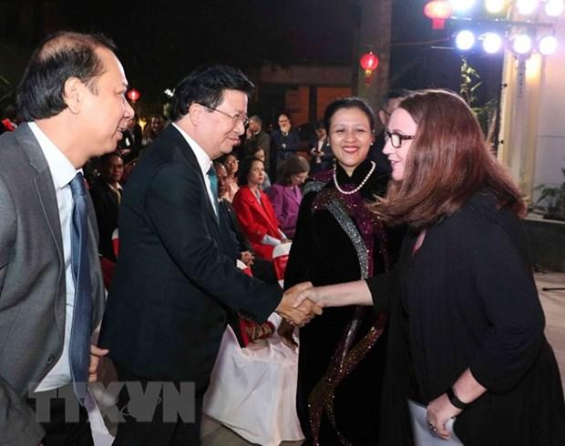 Le vice-PM Trinh Dinh Dung rencontre les representants du corps diplomatique etranger hinh anh 1