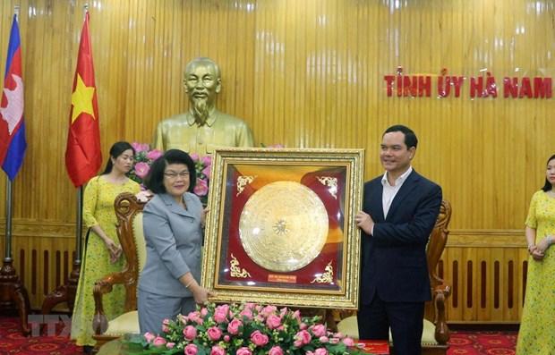 Une delegation de l'AN du Cambodge visite la province d'Ha Nam hinh anh 1