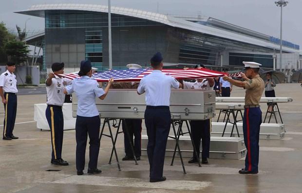 Rapatriement des restes de soldats americains portes disparus au Vietnam hinh anh 1