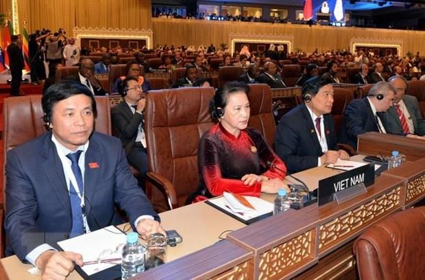 La presidente de l'AN Nguyen Thi Kim Ngan assiste a l'ouverture de la 140e assemblee de l'UIP hinh anh 1
