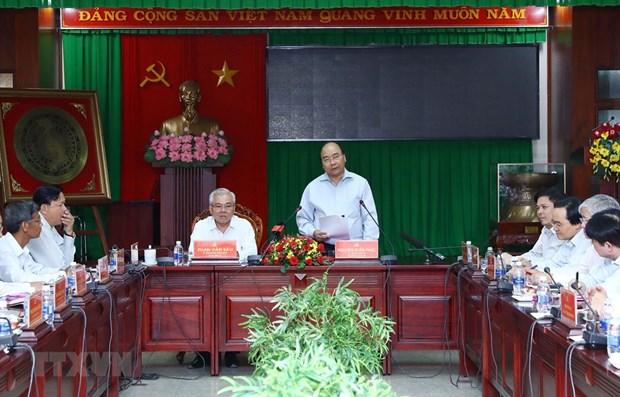 Le Premier ministre Nguyen Xuan Phuc a Soc Trang hinh anh 1