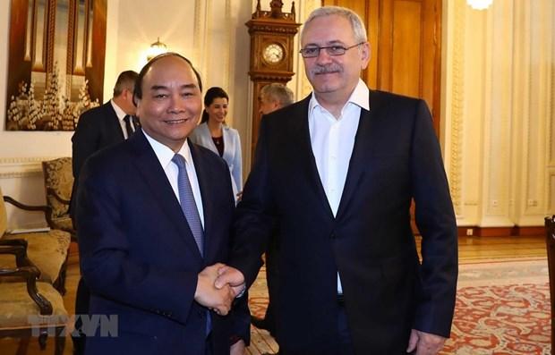 Entrevue entre le PM Nguyen Xuan Phuc et le president de la Chambre des deputes de Roumanie hinh anh 1