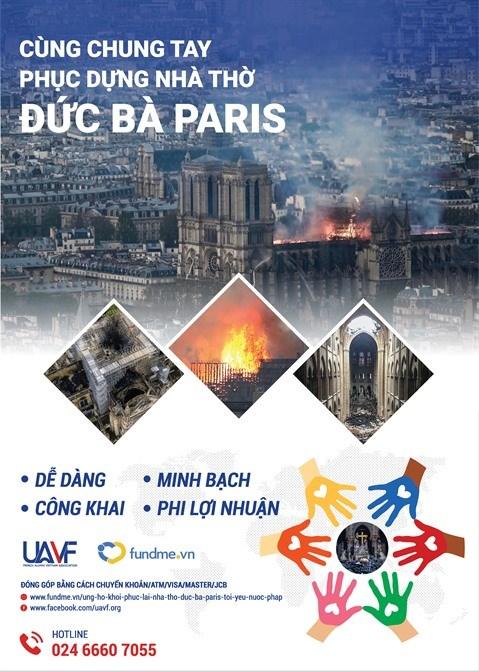 L'UAVF appelle aux donations pour le retablissement de Notre-Dame de Paris hinh anh 1