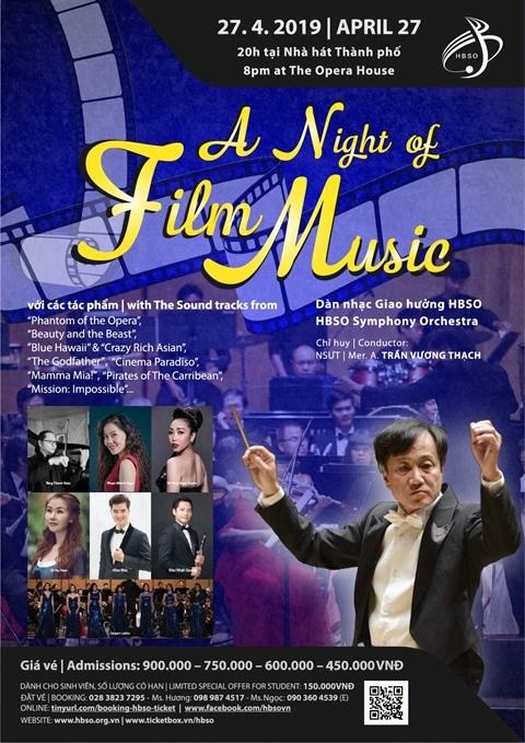 """""""Une nuit de musique de film"""" a Ho Chi Minh-Ville hinh anh 1"""