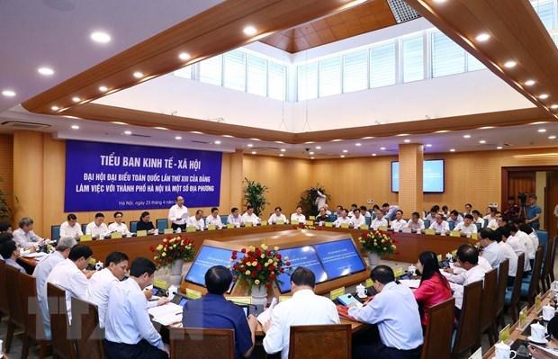 Vers le 13eme Congres national du PCV: reunion de la sous-commission des affaires socio-economiques hinh anh 1