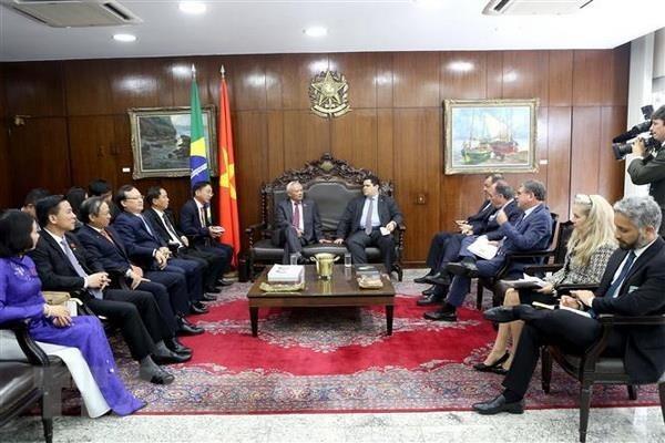 Vietnam et Bresil promeuvent la cooperation dans le secteur legislatif hinh anh 1