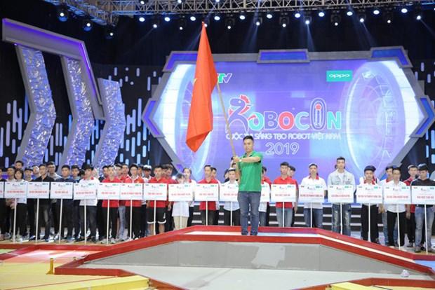 Coup d'envoi du tour final du concours de robots Vietnam 2019 hinh anh 1