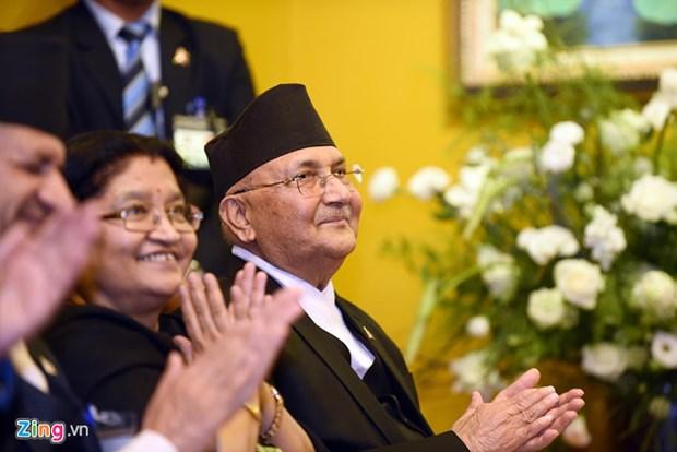 Le PM nepalais assiste a la publication d'un livre sur la paix et le bouddhisme hinh anh 1