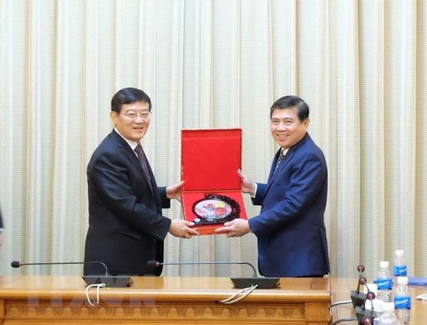 Ho Chi Minh-Ville souhaite promouvoir la cooperation d'investissements avec la Chine hinh anh 1