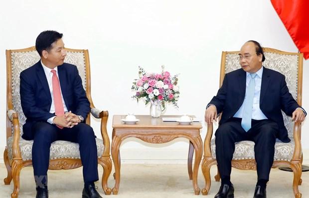 Le Premier ministre salue les activites du groupe japonais AEON au Vietnam hinh anh 1