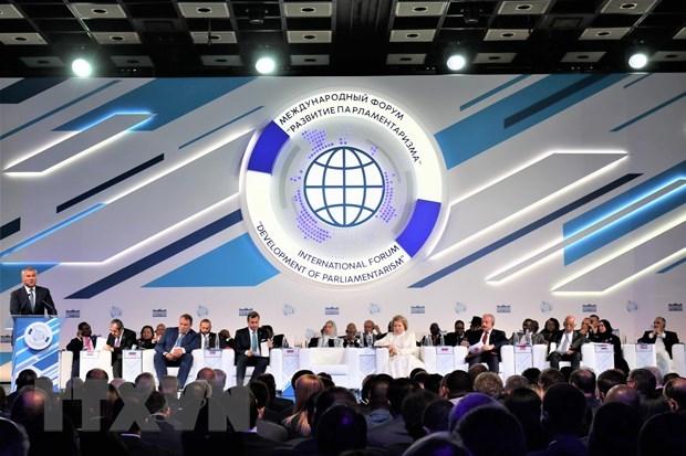 Le Vietnam participe au forum de Moscou sur le developpement du parlementarisme hinh anh 1